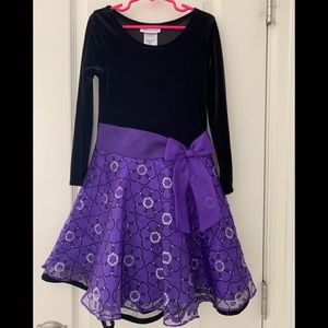 Size 6 Purple & Black Bonnie Jean Dress
